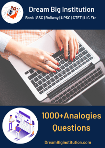 Top 1000 Analogies Questions For SSC and Railways Exams