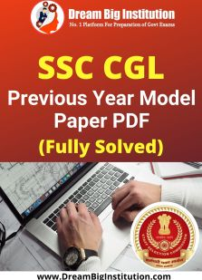 SSC CGL Previous year Question Papers PDF