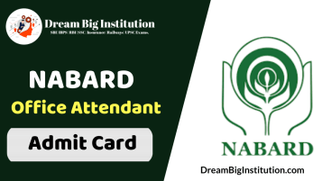 NABARD Office Attendant Admit Card 2020