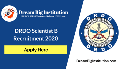 DRDO Scientist B Recruitment 2020: