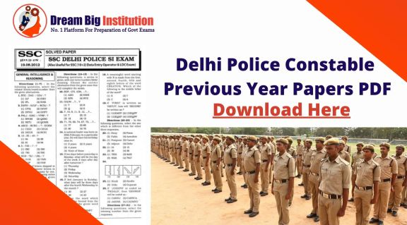 Delhi Police Constable Previous Year Papers PDF