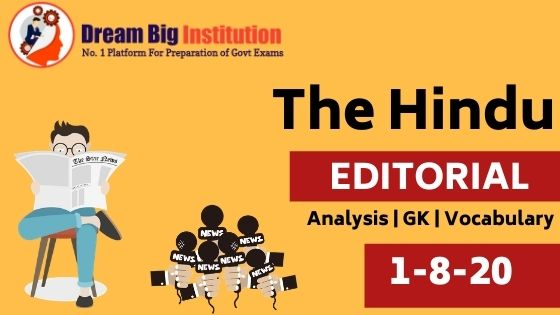 The Hindu Editorial Vocabulary 1 August 2020