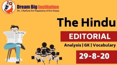 The Hindu Editorial VOCAB 29 August 2020
