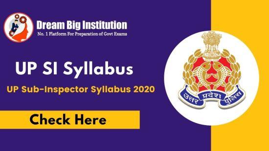 UP SI Syllabus