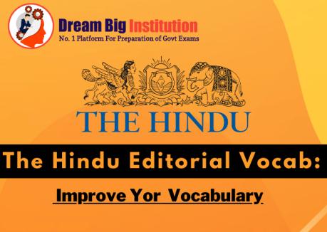 The Hindu Editorial VOCAB 29 October 2020