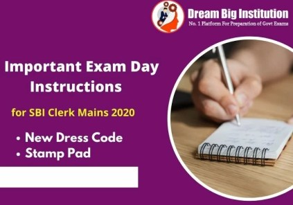 Important Exam Day Instructions for SBI Clerk Mains 2020