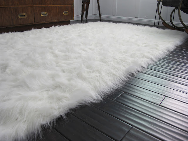 White Faux Sheep Skin Rug Obsession  Dream Book Design