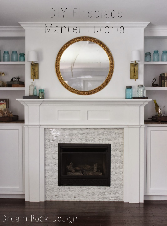 diy fireplace mantel shelf her tool belt. diy fireplace