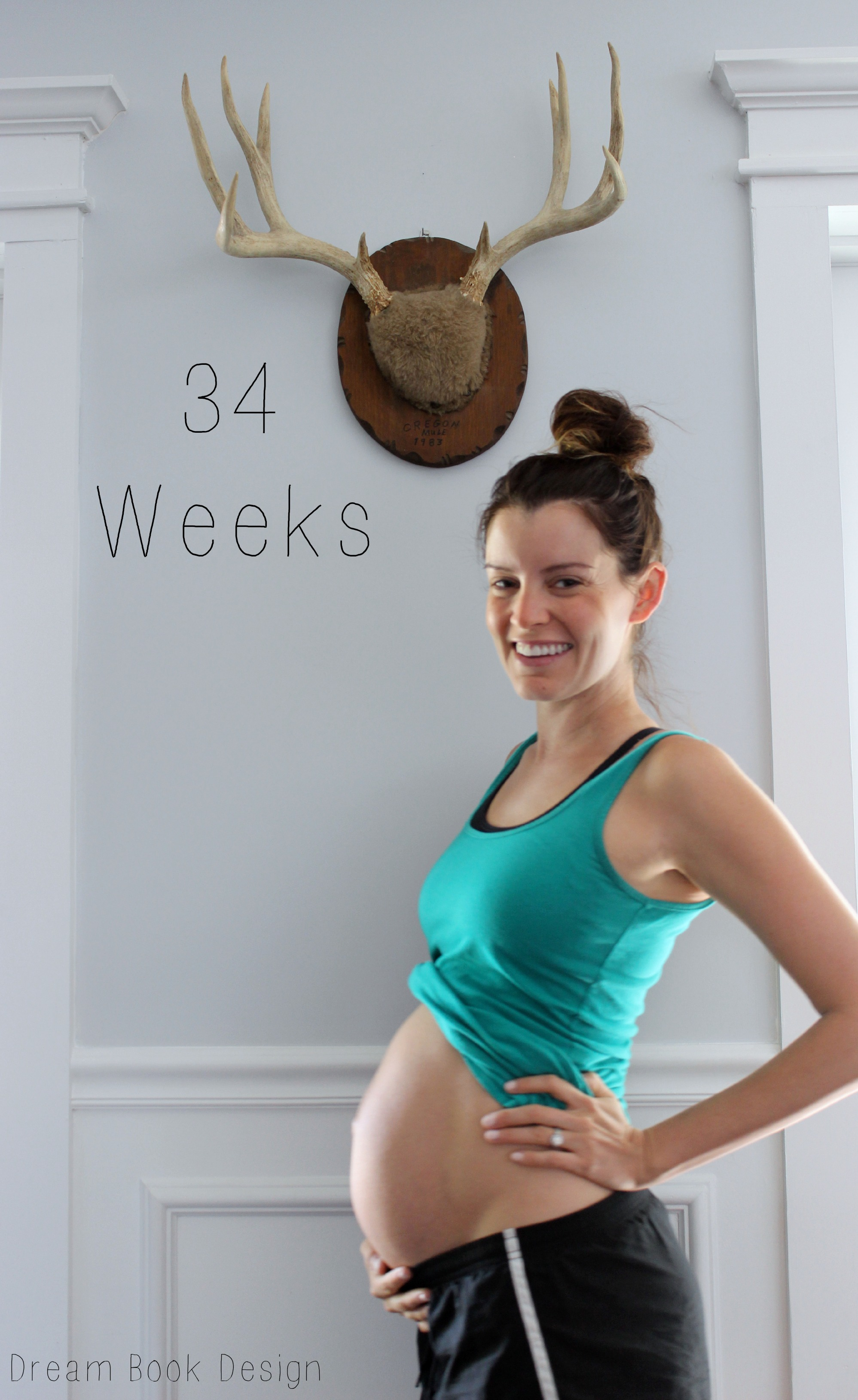 what should my weight gain be at 34 weeks pregnant how much