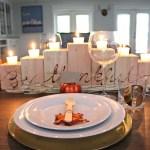 Diy Wooden Candle Holder Centerpiece Dream Book Design