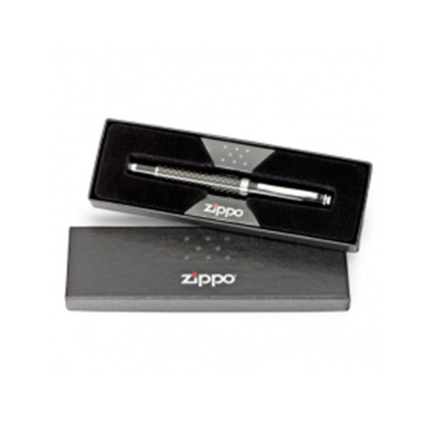 Zippo Brushed Chrome Ball Point Pen - Silver-4744