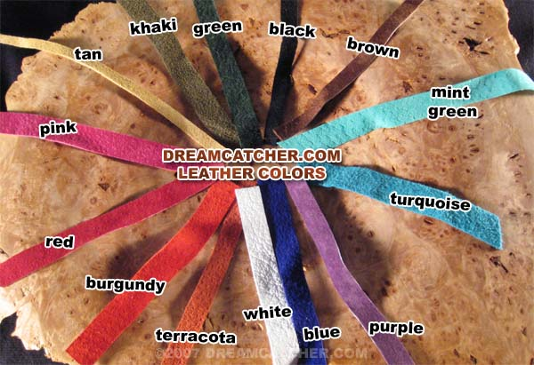 dreamcatcher leather color and