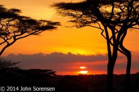Sunset Ndutu Tanzania