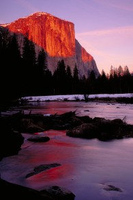 Evening Glow On El Capitan and The Merced