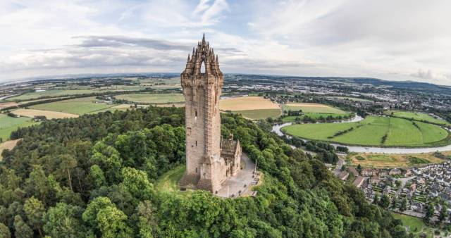 Wallace Monument, Stirling - a half hour drive away!