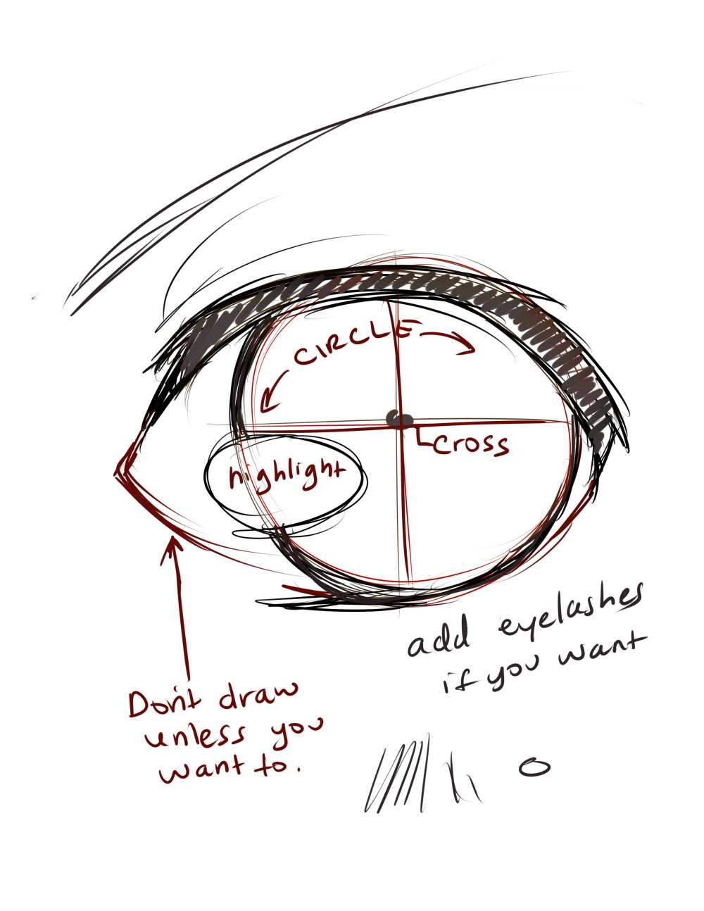 medium resolution of i came up with this technique when i wanted to draw perfect round eyes and kept making boo boos with the eye shape xd
