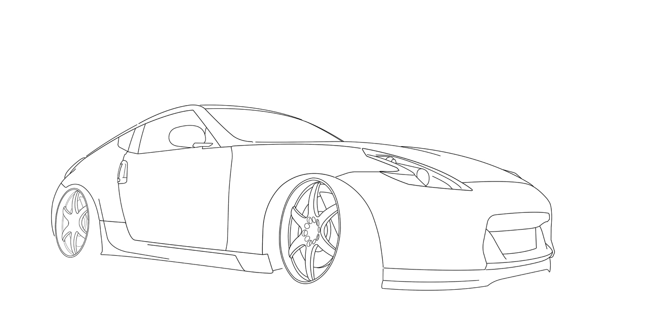 Nissan Silvia S15 Pages Coloring Pages