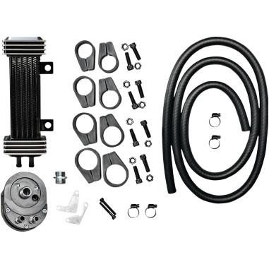 Oil Cooler Kit Deluxe 6-Row Vertical Frame-Mount HD 84-17