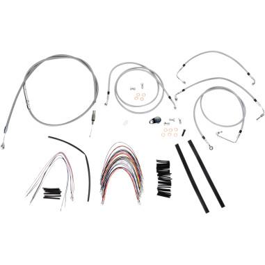 Cable/Brake Line Kit Braided S/S for 14 Apes FLHR/FLTR 08