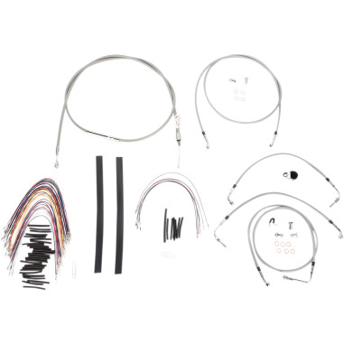 Cable/Brake Line Kit Braided S/S for 15 Apes FLH 08-13 w
