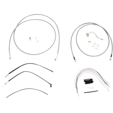 Cable/Brake Line Kit Braided S/S for 15 Apes FLH 14-15 w