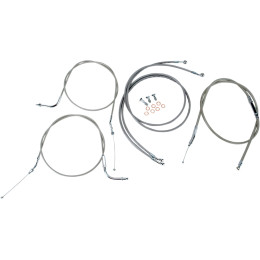 Handlebar Cable/Line Kit Stainless 12-14 Road Star 04-07