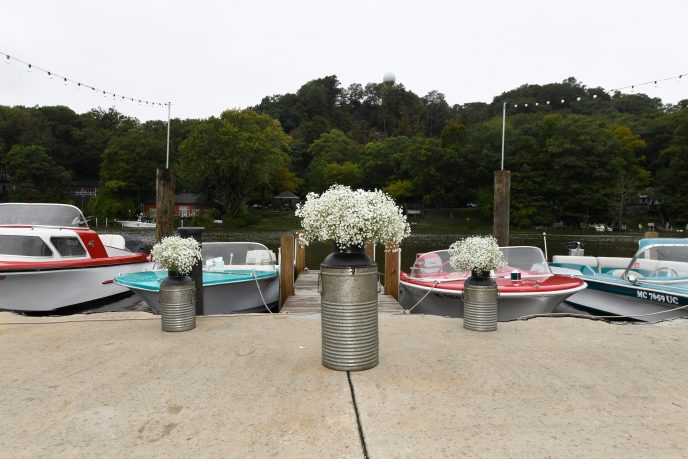 a cool place to elope in Michigan, retro boats of saugatuck