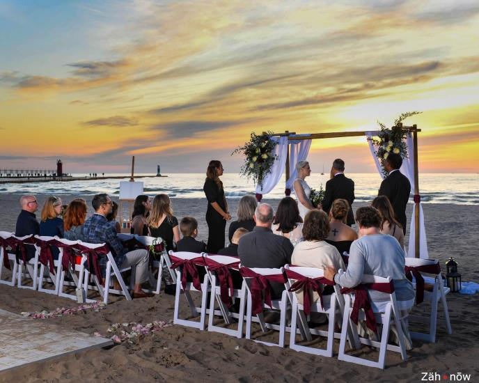 Micro wedding on the beach