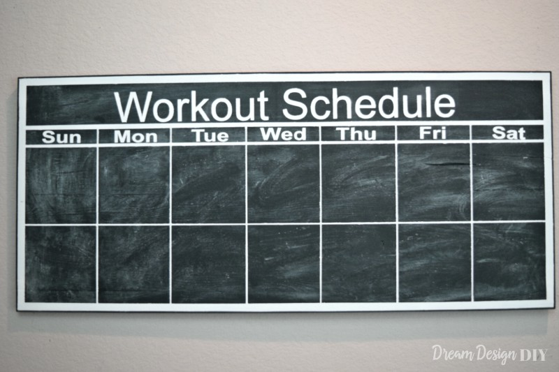 How to Make a Chalkboard Workout Calendar - Dream Design DIY