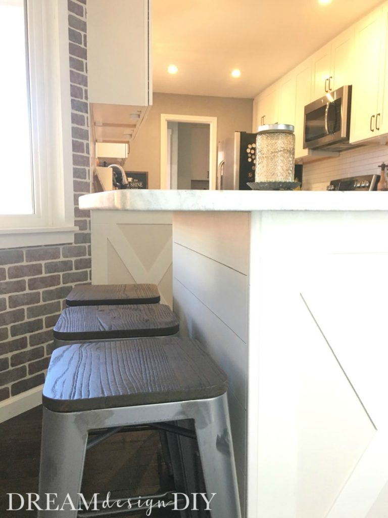 How To Add Shiplap To A Kitchen Island Easy Budget