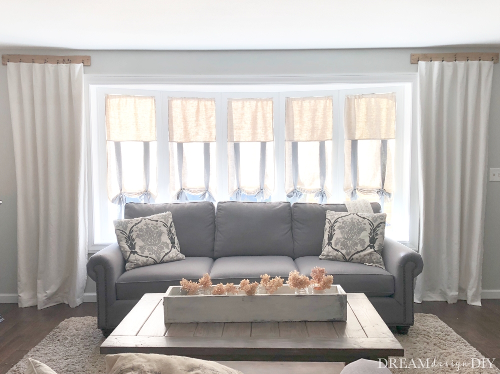 how to make pallet curtain rods dream