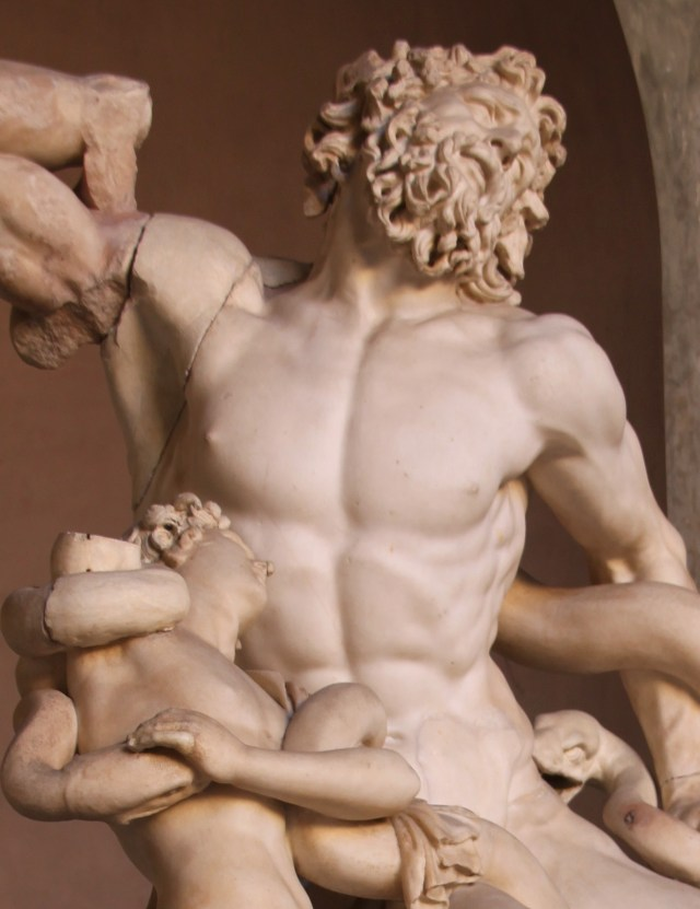 Detail of Laocoön's twisted torso