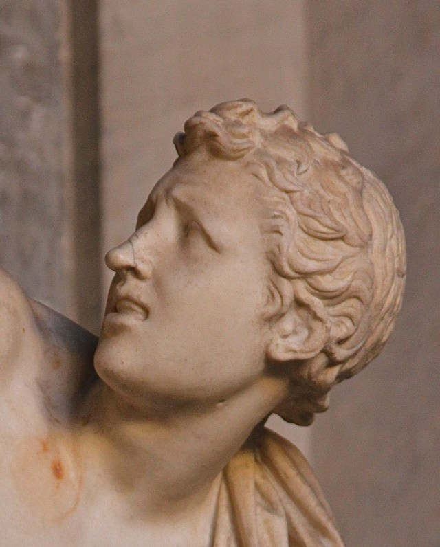 Close up of Laocoön's son