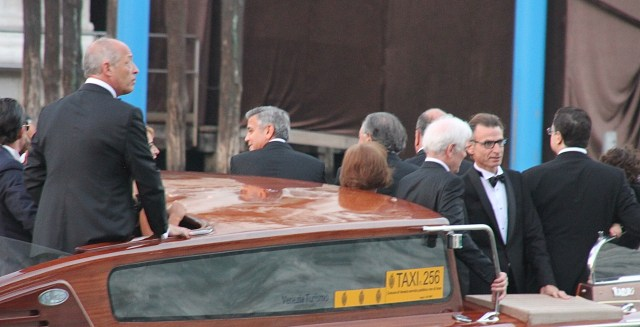 Clooney's Senior (white haired) and Junior (silver haired) together with other family members