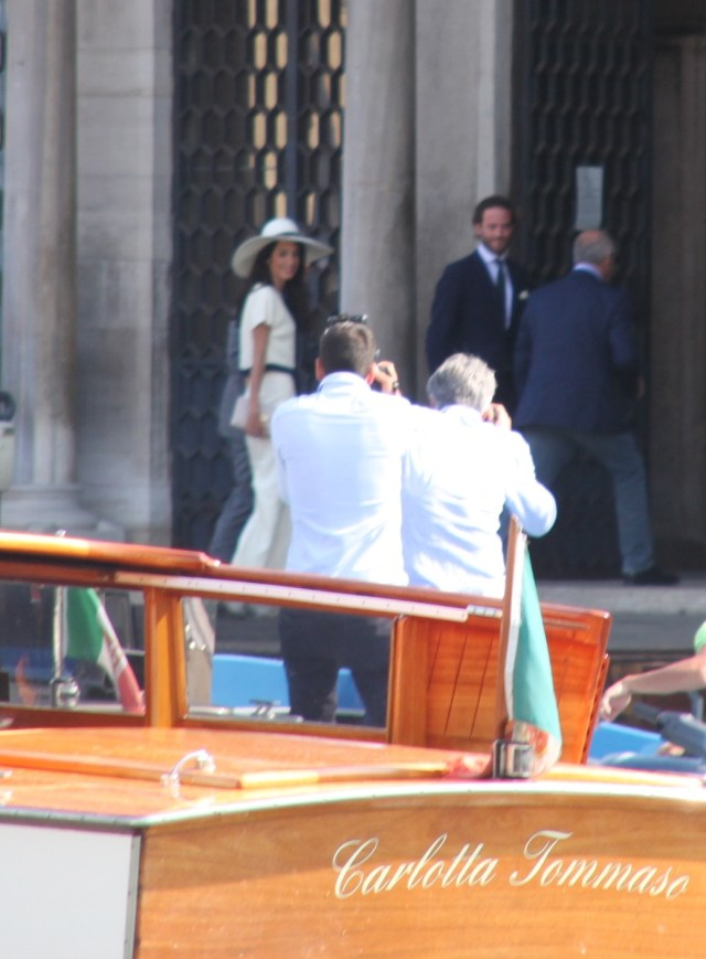 George and Amal arriving at Ca' Farsetti