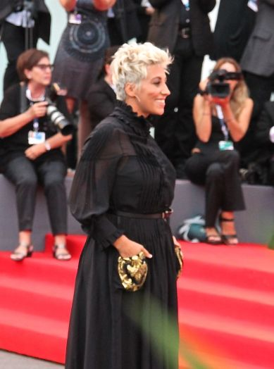 Italian pop singer Malika Ayane walks the red carpet at the Venice Film Festival opening night, 2015