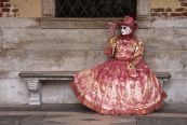 The pink lady catches some early spring sunshine in Venice