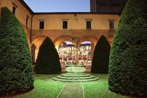 An old monastery gardens by night in Forlì, Romagna - more of which in 2016.....!