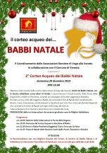 Poster for the water parade of Babbo Natale