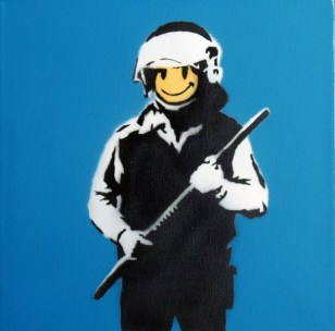 Banksy street art in Rome