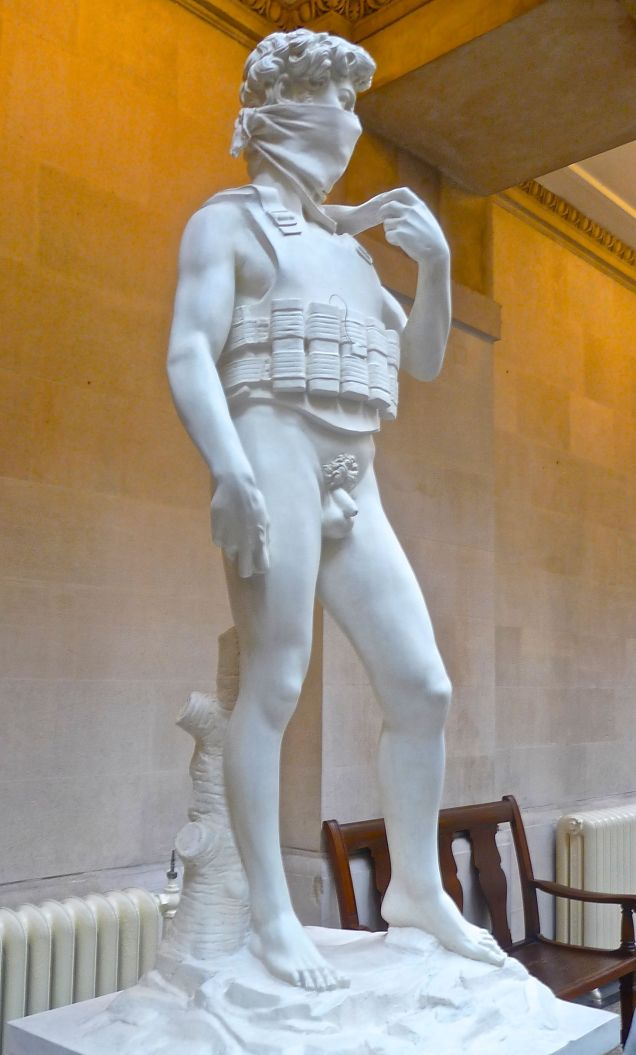 David by Banksy, from the Bristol Museum and Art Gallery exhibition, 2009