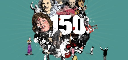 Ulster Hall 150th Festival logo