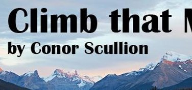 "Cover art for Conor Scullion's ""Climb that Mountain"" charity fundraising single"