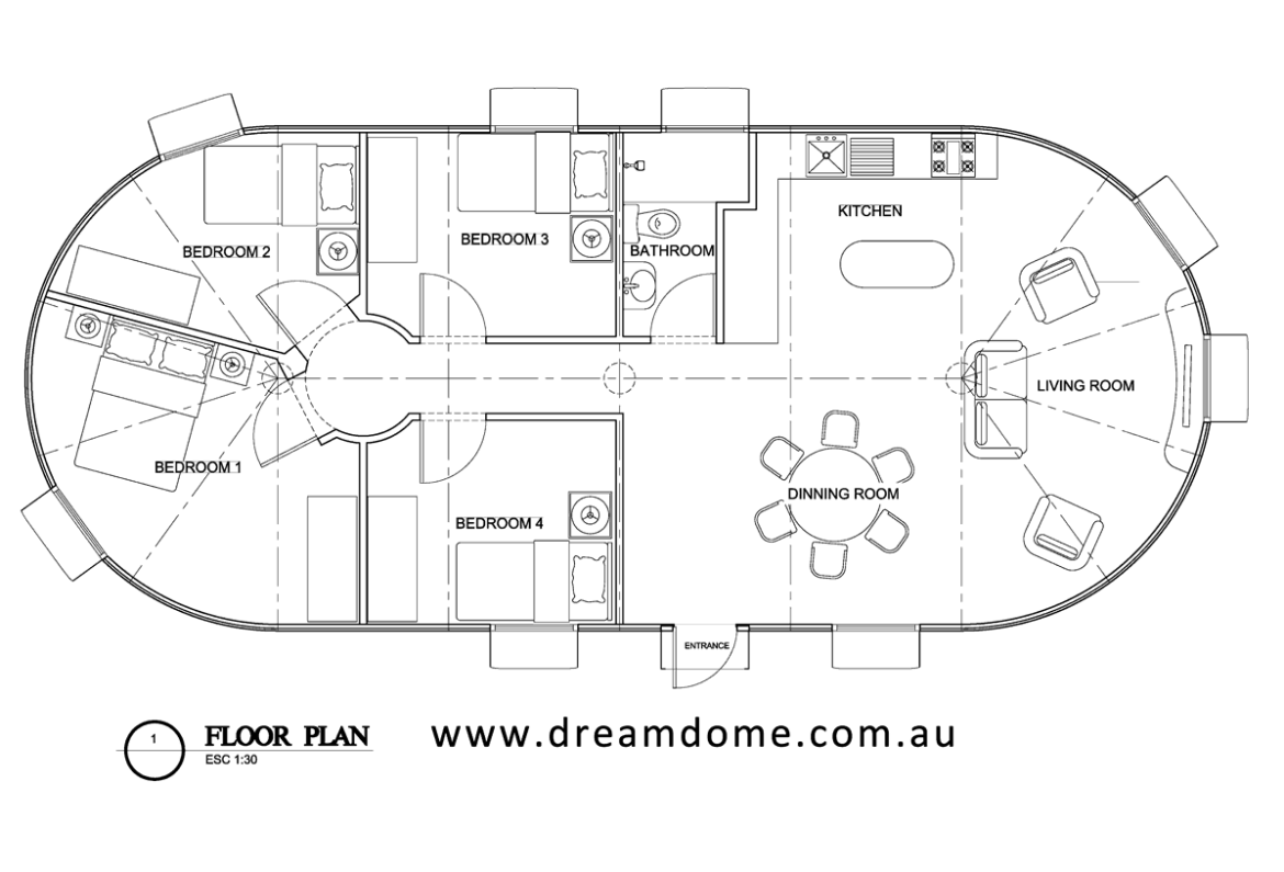 DreamDome 6.5 extension - 3 bedroom home v1