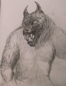 Pencil Drawings of Werewolf Dream Driven Art