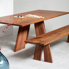 Wooden Kitchen Table Used Cabinet Doors Simple Wood Dining Dreamehome
