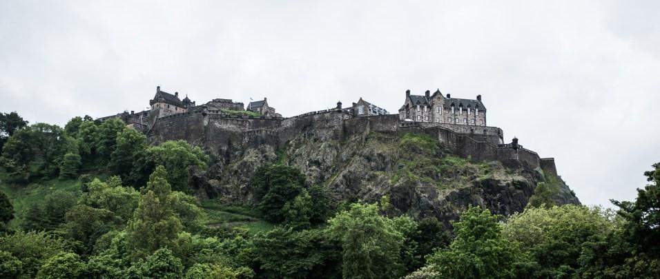 Edinburský hrad zo severu