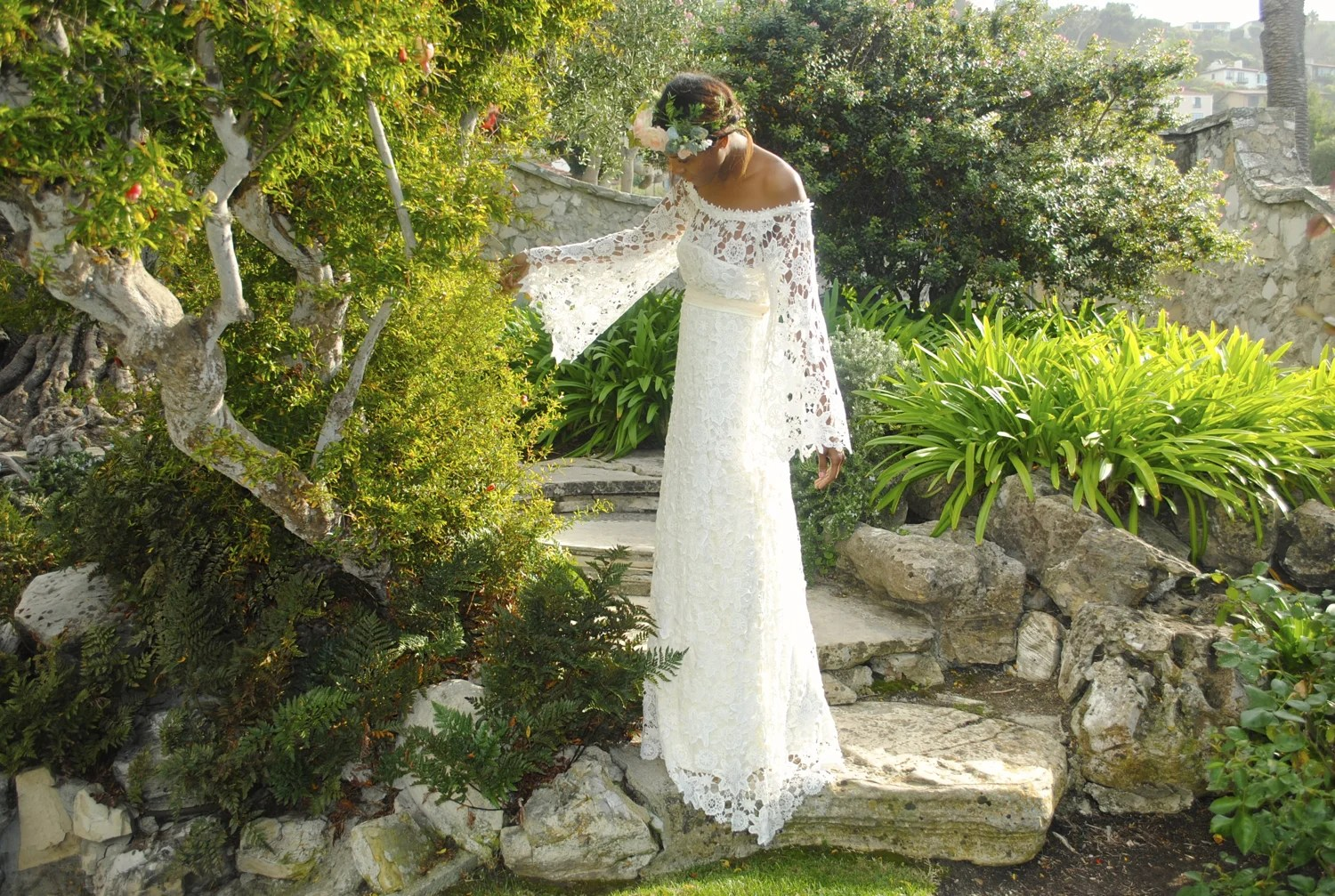 Holly Vintage Style Boho Wedding Dress