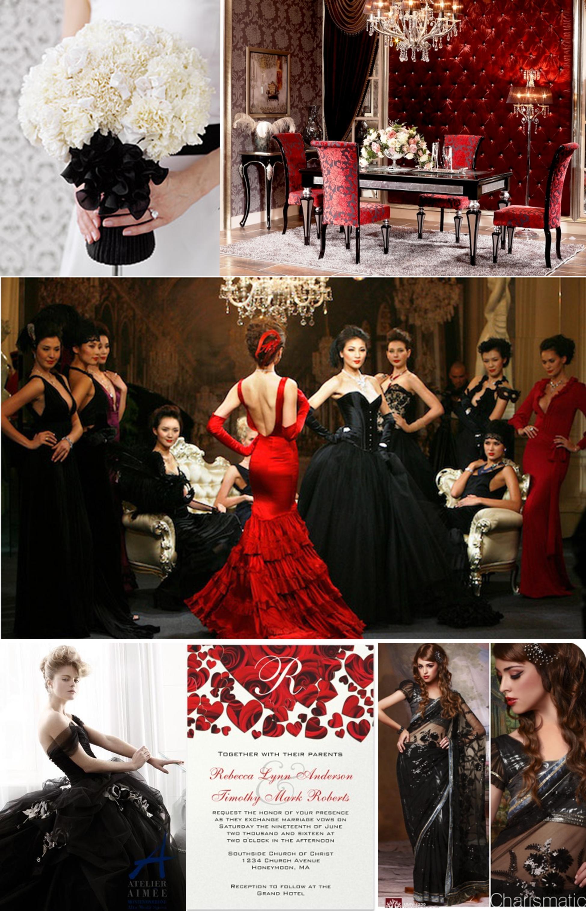 black wedding dress  Dreamers Events