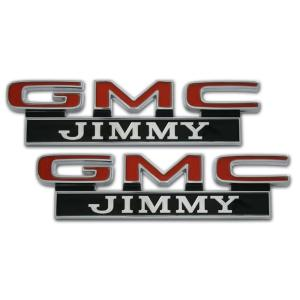 Front Fender Emblems - 'GMC Jimmy' - 67-72 Chevy Pickup